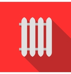 Radiator icon in flat style vector