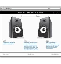 Website template - elegant design vector image