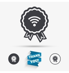 Award wifi sign wi-fi symbol wireless network vector