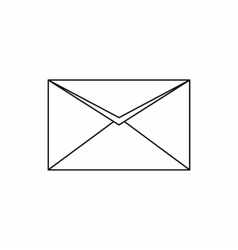 Closed envelope icon outline style vector