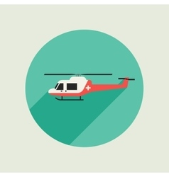 Ambulance helicopter vector image