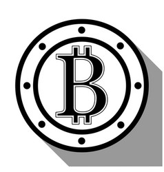 bitcoin flat design vector image