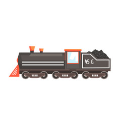 black train locomotive colorful cartoon vector image
