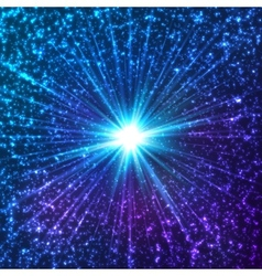 Blue shining cosmic stars vector