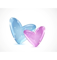 Bubbles Of Heart vector image