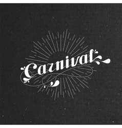 Carnival and light rays on the black cardboard vector