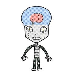 Comic cartoonw weird robot vector