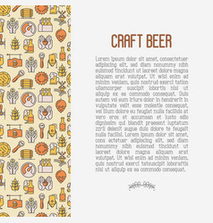 craft beer concept with thin line icons vector image vector image