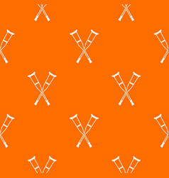 Crutches pattern seamless vector