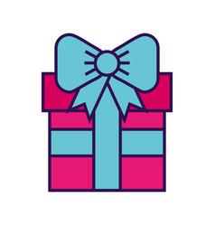 cute fuchsia gift cartoon vector image