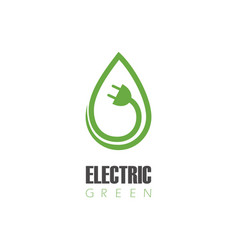 electric green logo vector image