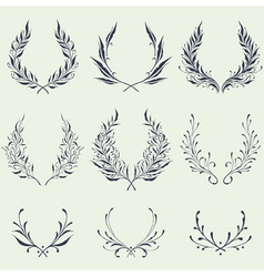 Floral Wreath Ornaments vector image