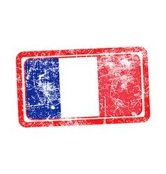 France flag red grunge rubber stamp vector