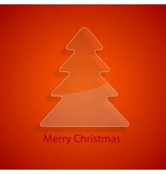 Glass christmas tree vector image vector image