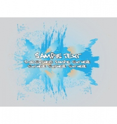 grunge template vector image