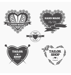 Handmade logo vector image vector image