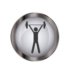 Isolated weight lifting design vector