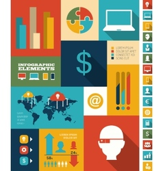 IT Industry Infographic Elements vector image vector image