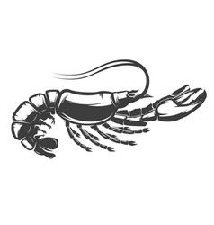 Lobster icon isolated on white background vector