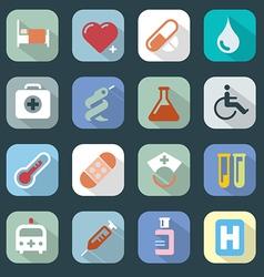 Medicine web colour icons set vector