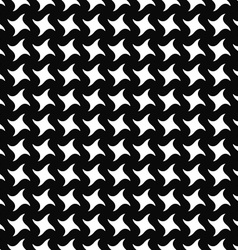 Repeating monochrome swirling star pattern vector