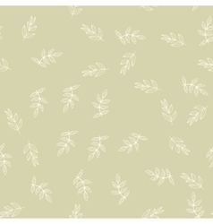 Seamless pattern with leaves nature background vector