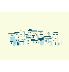 Seashore town vector