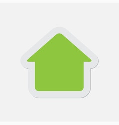 simple green icon - home vector image vector image