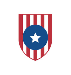 simple usa flag shield emblem vector image