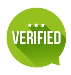Verified badge speech bubble vector image