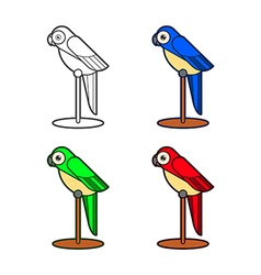 Macaw bird collection vector image