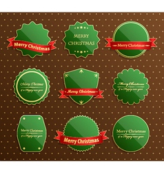Christmas luxury labels vector image