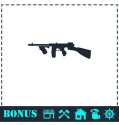 Automatic rifle icon flat vector