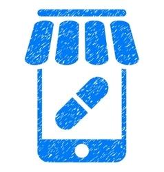 Online pharmacy grainy texture icon vector