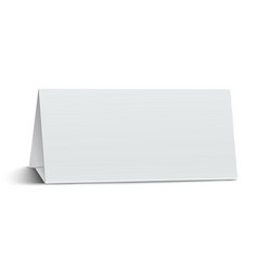 horizontal elongate oblong blank paper table card vector image