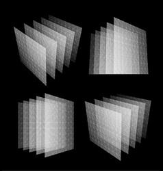 Bid data center abstract geometric vector