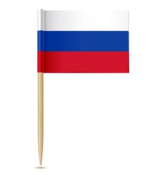Russian flag toothpick vector