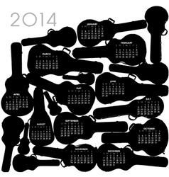 2014 guitar case calandar vector