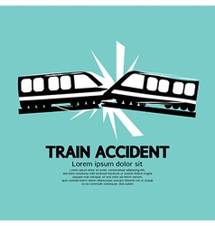 Train accident graphic vector