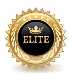 Elite badge vector