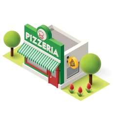Isometric pizzeria vector