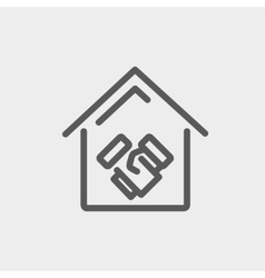 Successful real estate transactions thin line icon vector