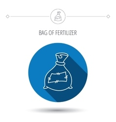 Bag with fertilizer icon fertilization sack vector