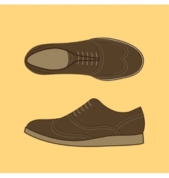 Classical men shoes vector