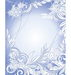 Snowflake and Floral Christmas Design vector image