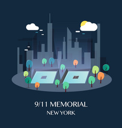 911 memorial new york vector image vector image