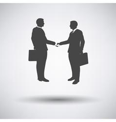 Meeting businessmen icon vector