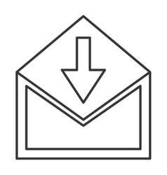 Envelope with downward arrow icon vector