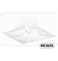 Abstract 3d big data visualization vector