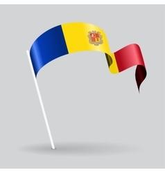 Andorran wavy flag vector image